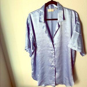 Victoria's Secret Blue Night Dress Shirt